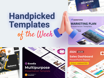 Our Handpicked Templates of the week 🔥 motion graphics branding 3d animation medical health dashboard ui financial project chart graphic design ui logo illustration presentation creative infographic powerpoint design business powerpoint template