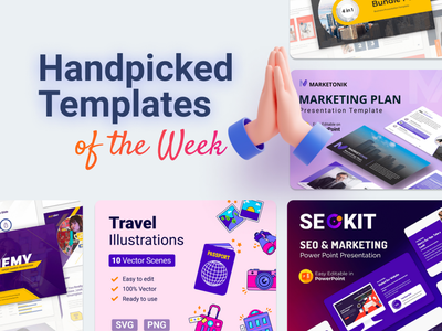 Our Handpicked Templates of the week 🔥 branding motion graphics graphic design 3d animation ui logo illustration presentation creative infographic powerpoint design business powerpoint template