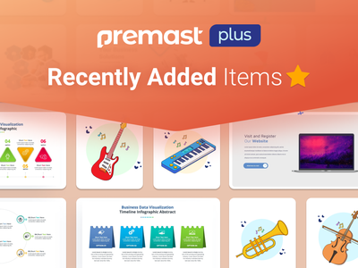 Premast Plus Recently Added Items branding motion graphics graphic design 3d animation ui logo illustration presentation creative infographic powerpoint design business powerpoint template