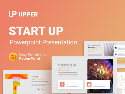 Upper -Startup PowerPoint Presentation Templates logo motion graphics graphic design 3d animation ui about us mockup start up startup startup presentation team illustration presentation creative infographic powerpoint design business powerpoint template