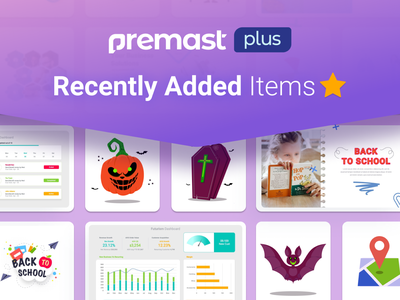 Premast Plus Recently Added Items dashboard icons branding motion graphics graphic design 3d animation ui logo illustration presentation creative infographic powerpoint design business powerpoint template