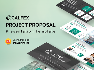 Calfex – Project Proposal PPT Presentation Template graphic design 3d animation project-status proposal project timeline project proposal pie chart chart calfex ui logo illustration presentation creative infographic powerpoint design business powerpoint template