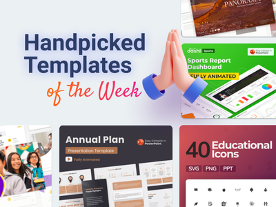 Our Handpicked Templates of the week 🔥 dashboard branding motion graphics graphic design 3d animation ui logo illustration presentation creative infographic powerpoint design business powerpoint template