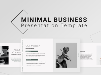 Minimal Business PowerPoint Presentation Template timeline motion graphics 3d animation ui graphic design team smart our vision our mission minmal business minimal illustration presentation creative infographic powerpoint design business powerpoint template