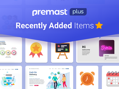 Premast Plus Recently Added Items branding motion graphics graphic design animation 3d ui logo illustration presentation creative infographic powerpoint design business powerpoint template