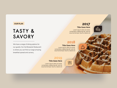 Savory Food PowerPoint Presentation Template presentation creative infographic powerpoint design business powerpoint template clean cooking food recipe cafe food and drink foodie chef delicious cookbook service delicatessen tasty