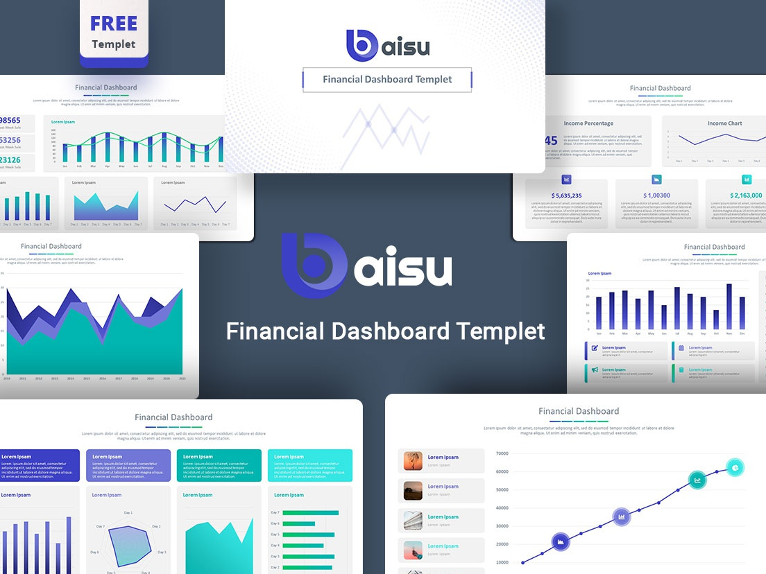 Free Daisu Financial Report Powerpoint Template By Premast