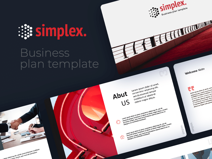 Simplex Free Minimal Business Plan Powerpoint Template By