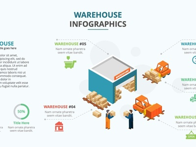 Warehouse Infographic Free powerpoint slide