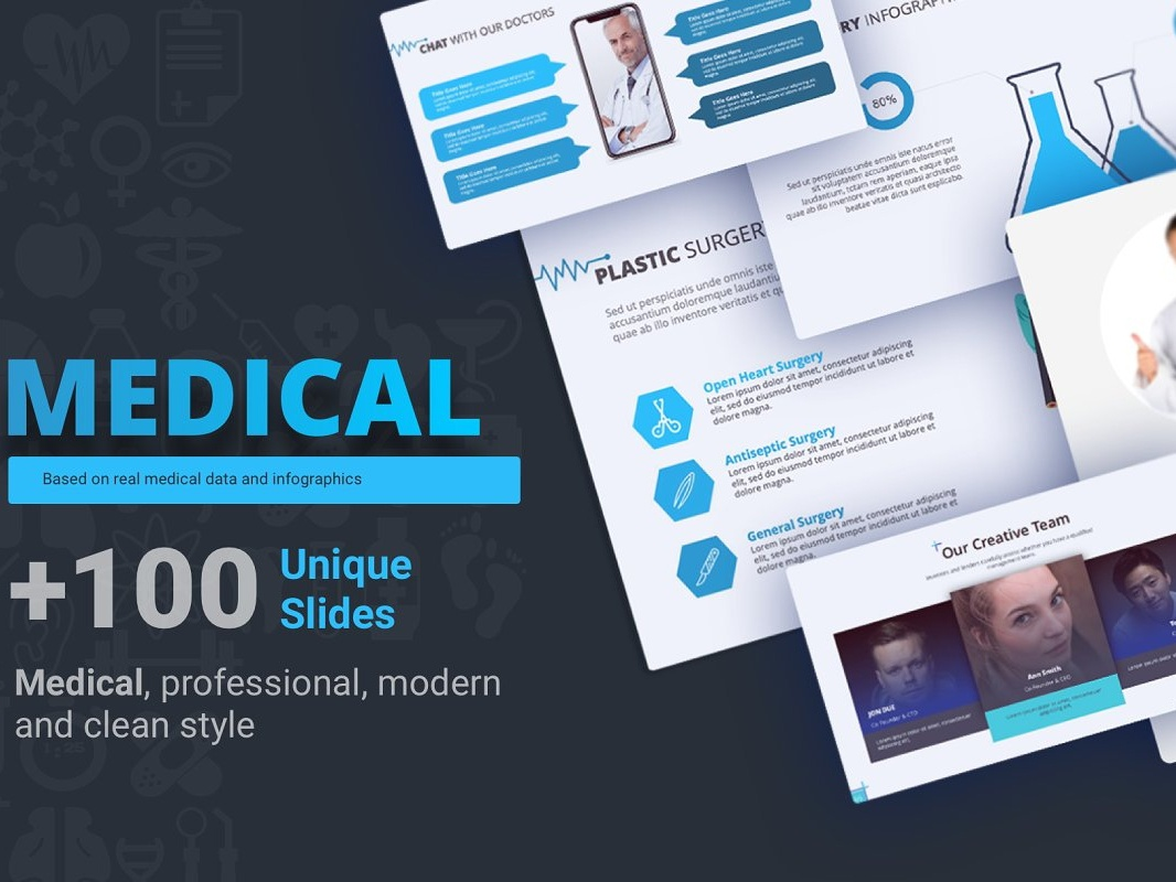 Medical Presentation template by Premast on Dribbble