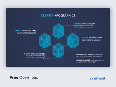 Crypto Business Infographic PowerPoint template