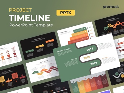 project timeline powerpoint infographics