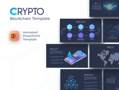 Crypto Blockchain and cryptocurrency free powerpoint template
