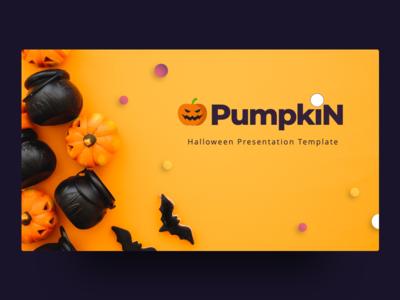 Pumpkin Free Halloween Presentation Template