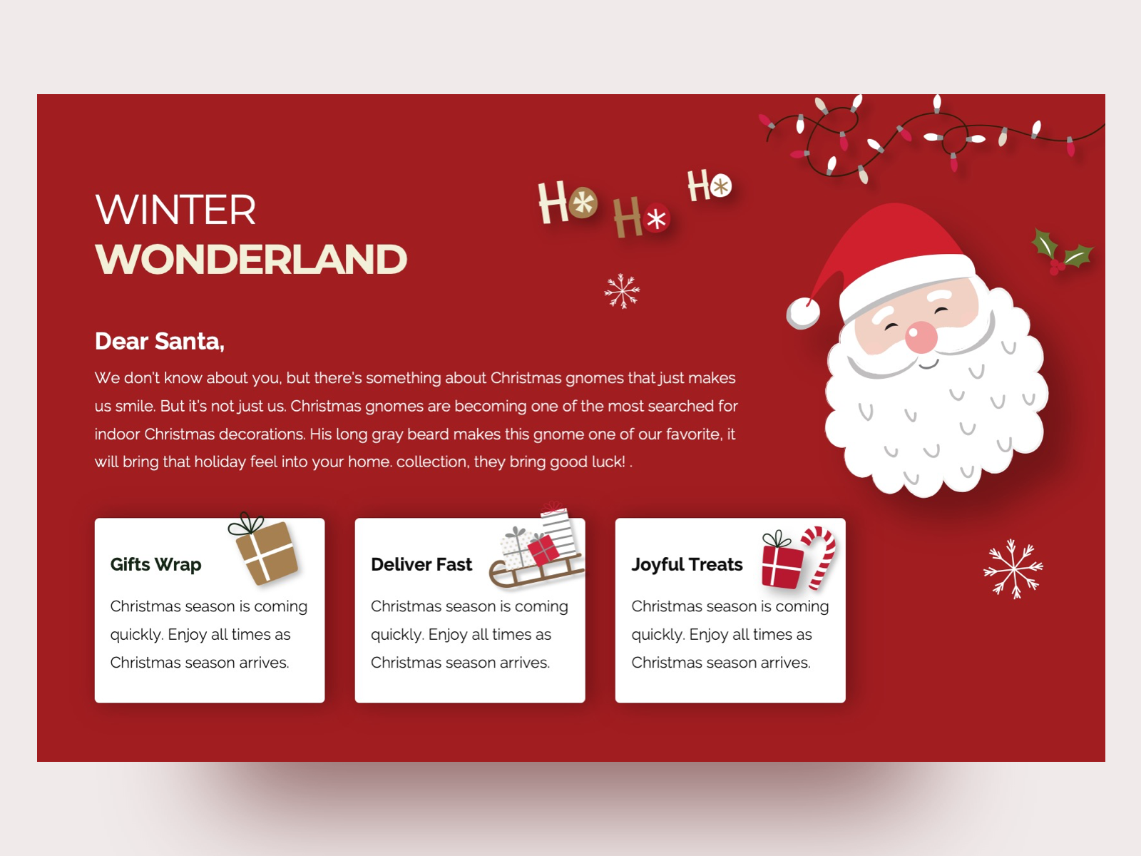 Christmas Free Powerpoint Presentation Template By Premast