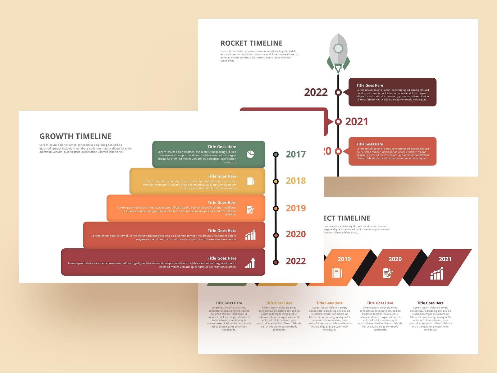 Timeline Slide Template from cdn.dribbble.com