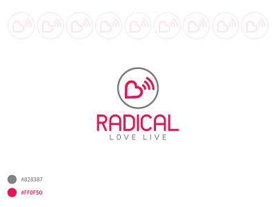 Radical Love Live Logo flat logo branding vector design love live logo religious logo logo design logos logotype love live logo love logo