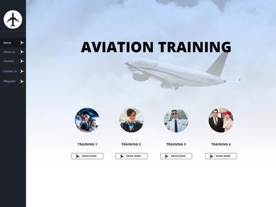 Aviation Training Website Design