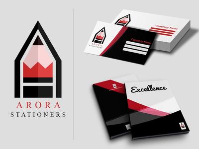 Arora Stationers Logo And Brand Identity Design.