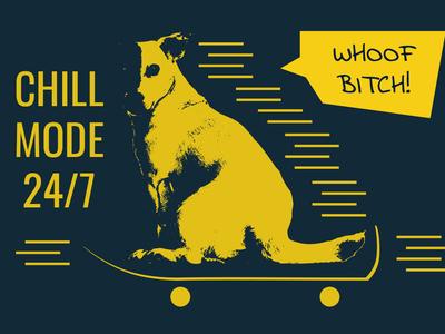 Dog Chill Mode Illustration