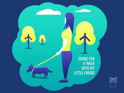 Walk The Dog Illustration