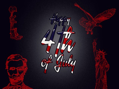 Happy 4th Of July Illustration