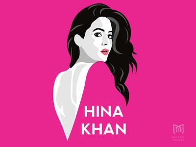 Hina Khan Illustration