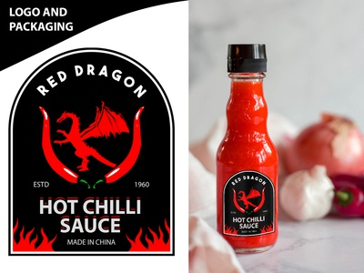 Chilli Sauce Logo,  Label And Packaging Design