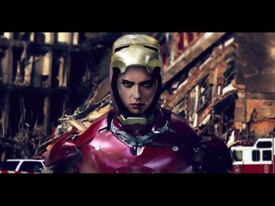 Scarlett Johansson In Iron-Man Suit   Avengers.