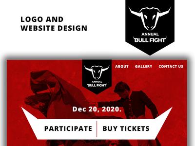 Bull Fight Logo And Website Design