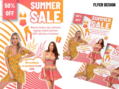 Summer Sale Flyer Banner Design.