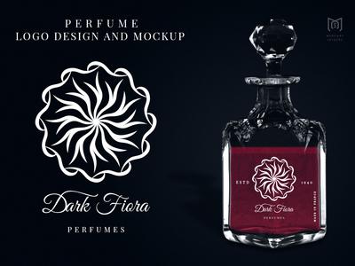 Perfume Logo And Mockup Design.