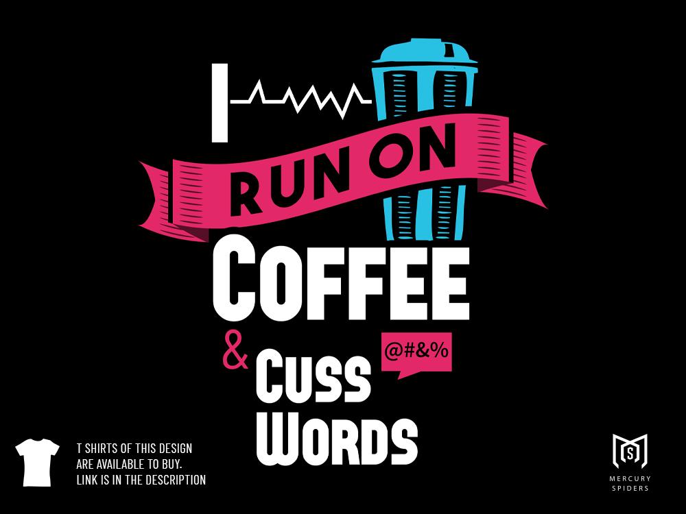 Coffee T Shirt Design Illustration illustrator photoshop art sticker design photoshop graphic designer coffee t shirt design illustration