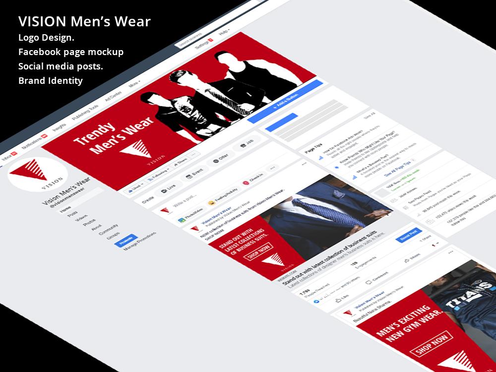 Vision mens wear brand identity design mercuryspiders