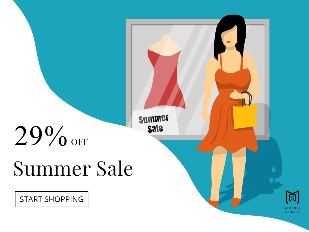 Summer Sale Illustration photoshop art vector art summer shopping women photoshop landing design web design editorial illustration illustration illustrator
