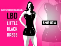 Woman In Little Black Dress Illustration
