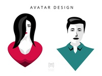 avatar design - Male & Female.