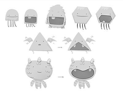 Monsters concepts monsters characters illustration concept storyboard