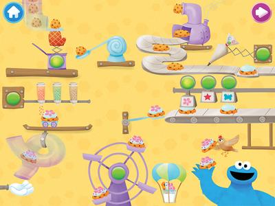 Rewards Screen - Cookie Monster's Challenge cookie monster sesame app kids game machine cookies rewards interactive