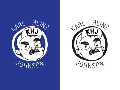 Band Logo - Karl-Heinz Johnson moustache dude illustration character band logo music band design logo