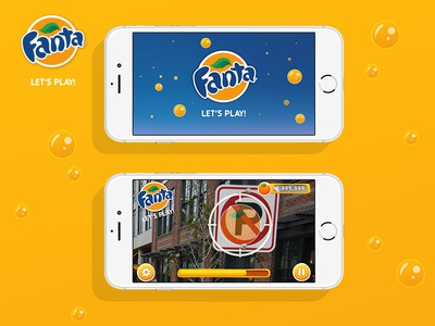 Fanta AR Game Pitch ui ar app mobile game game augmented reality