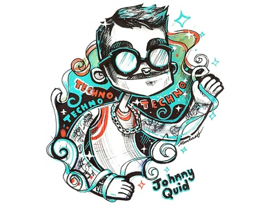 Johnny Quid characterdesign illustration techno