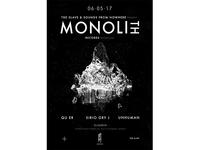 Monolith Records Showcase Poster Design