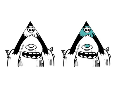 I present to you - MY LOGO doom draw paint art illustration vector illustrator character characterartist monster logo