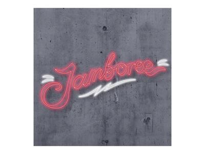 Jamboree Bar Logo cocktail sign neon bar logo
