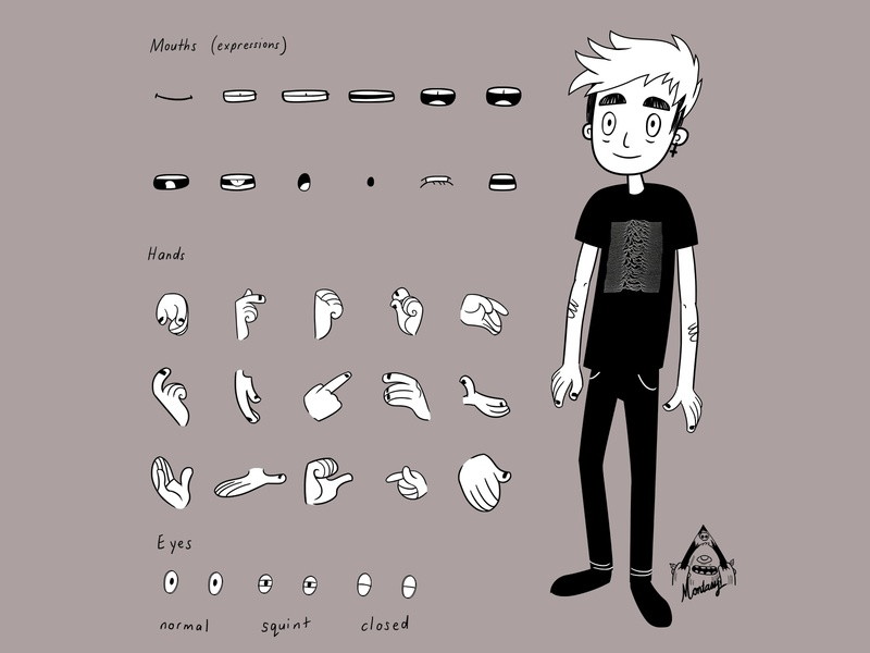 Post Punk Character characterdesign character concept illustration assets gestures character animation animationassets character goth punk post postpunk