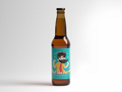 Beer label design with a VERY short deadline fruit fun hawaiian shirt beard alcohol beer bottle beer product design label design label illustration character characters beer art