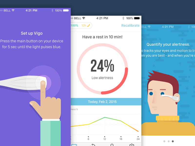 Vigo iOS App Mockups affinity best android interface interaction app ios iphone mockup