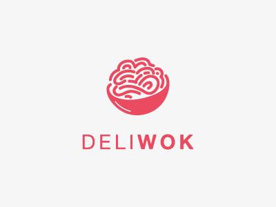 DeliWok Asian Kitchen logo food asian wok branding