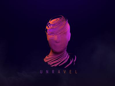 Unravel abstract photoshop cinema4d 3d art design